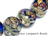 10410012 - Four Cobalt Treasure Lentil Beads