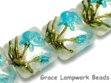 10411314 - Four Maya Blue Flower Pillow Beads