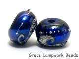 10411401 - Seven Cobalt Celestial Rondelle Beads