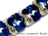 10411414 - Four Cobalt Celestial Pillow Beads