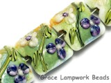 10504514 - Four White & Purple Flora Pillow Beads
