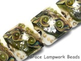 10505714 - Four Olive Stardust Pillow Beads