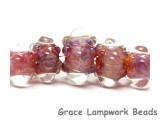10601611 - Five Graduated Orange & Purple Rondelle Beads