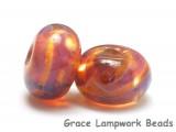 10602601 - Seven Orange & Purple Free Style Rondelle Beads