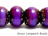 10604021 - Six Violet Shimmer Rondelle Beads