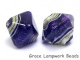 10604307 - Five Indigo Jewel Ridge Crystal  Shaped Beads