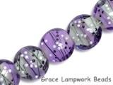 10604802 - Seven Lilac Tea Party Lentil Beads