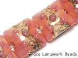 10704314 - Four Pink/Soft Orange Pillow Beads