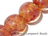 10704512 - Four Orange Lentil Beads