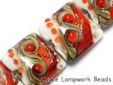 10705614 - Four Fire Red Stardust Pillow Beads