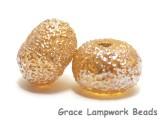 10801201 - Seven Golden Yellow Metallic Rondelle Beads