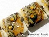 10801714 - Four Butterscotch Stardust Pillow Beads