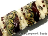 10902814 - Four Dark Cherry Stardust Pillow Beads
