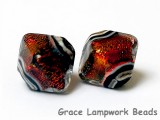 10903007 - Five Hot Lava Dichroic Crystal  Shaped Beads