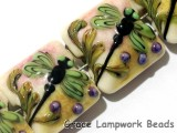 11005914 - Four Green Dragonfly Pillow Beads