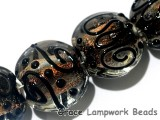 11006012 - Four Bright Fire Lentil Beads