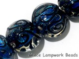 11006312 - Four Cerulean Lentil Beads