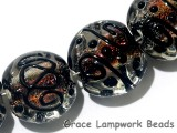 11006512 - Four Hot Flame Lentil Beads