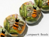 11007312 - Four Bumble Bee Garden Lentil Beads