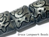 11205004 - Seven Gray Pearl Surface w/Black Pillow Beads