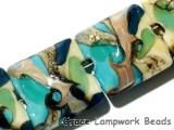 11605614 - Four Turquoise Silver Ivory Pillow Beads