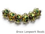AB00221 - Florida Mango Boro Rondelle Beads