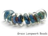 DSK0020 - Ten Oceanic Rondelle Disk Beads
