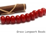 SP013 - Ten Opaque Red Spacer Beads