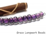 SP014 - Ten Amethyst Dichroic Spacer Beads