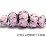 10110011 - Five Cherry Blossom Graduated Rondelle Beads