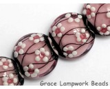 10110012 - Four Cherry Blossom Lentil Beads