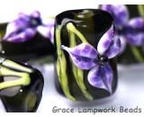 10205703 - Six Purple Iris Mini Kalera Beads