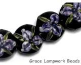 10205712 - Four Purple Iris Lentil Beads