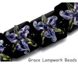 10205714 - Four Purple Iris Pillow Beads