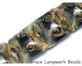 10406614 - Four Gray Blue w/Silver Foil Pillow Beads