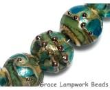 10406702 - Seven Ocean Blue w/Silver Foil Lentil Beads
