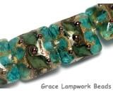 10406714 - Four Cool Teal Ocean Pillow Beads