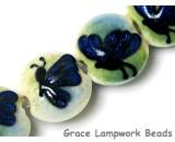 10412912 - Four Blue Sparkle Garden Butterfly Lentil Beads
