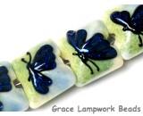 10412914 - Four Blue Sparkle Garden Butterfly Pillow Beads