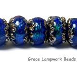 10413001 - Seven Sapphire Sea Shimmer Rondelle Beads