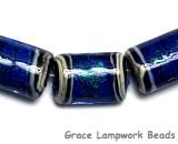 10413003 - Six Sapphire Sea Shimmer Mini Kalera Beads