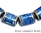 10413403 - Six Arctic Blue Shimmer Mini Kalera Beads