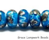 10413501 - Seven Zircon Blue Treasures Rondelle Beads