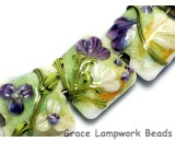10504504 - Seven White & Purple Flora Pillow Beads