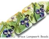 10504514 - Four White & Purple Flora Pillow Beads
