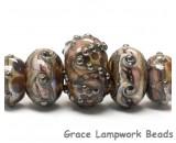 10601211- Five Graduated Dark Amethyst w/Silver Foil Beads