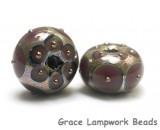 10601701 - Seven Plum w/Metal Dots Rondelle Beads