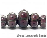 10601711 - Five Graduated Plum Rondelle Beads