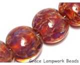 10602112 - Four Yellow-orange & Purple Free Style Lentil Beads
