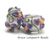 10603901 - Seven Regalia Flower Rondelle Beads